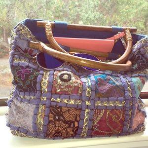 World market purse. Colorful Indian pattern